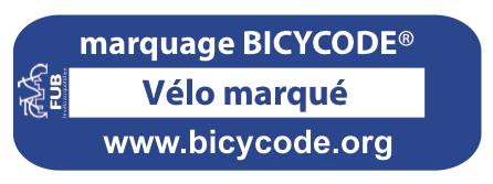 étiquette vélo marqué