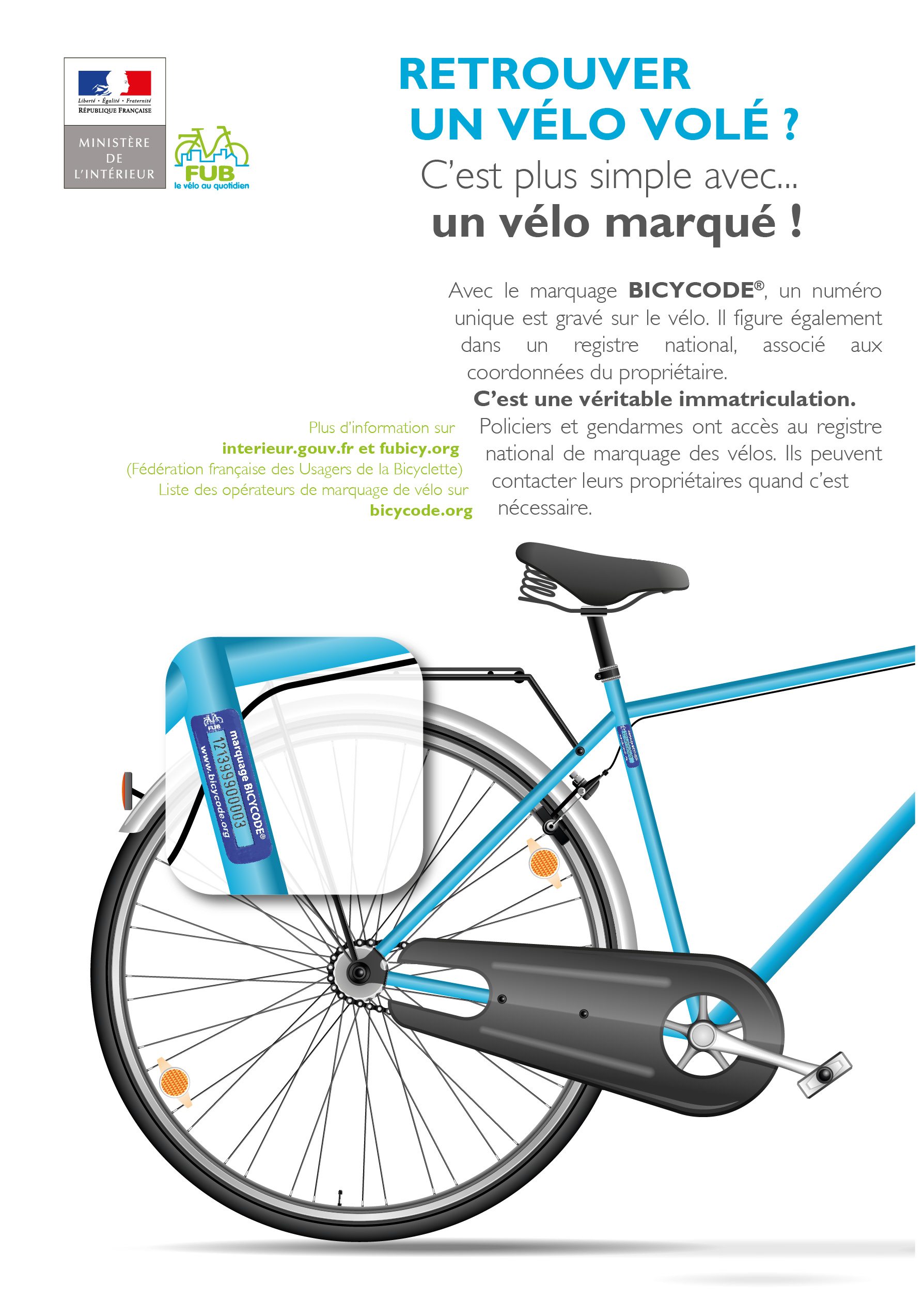 Affiche marquage Bicycode